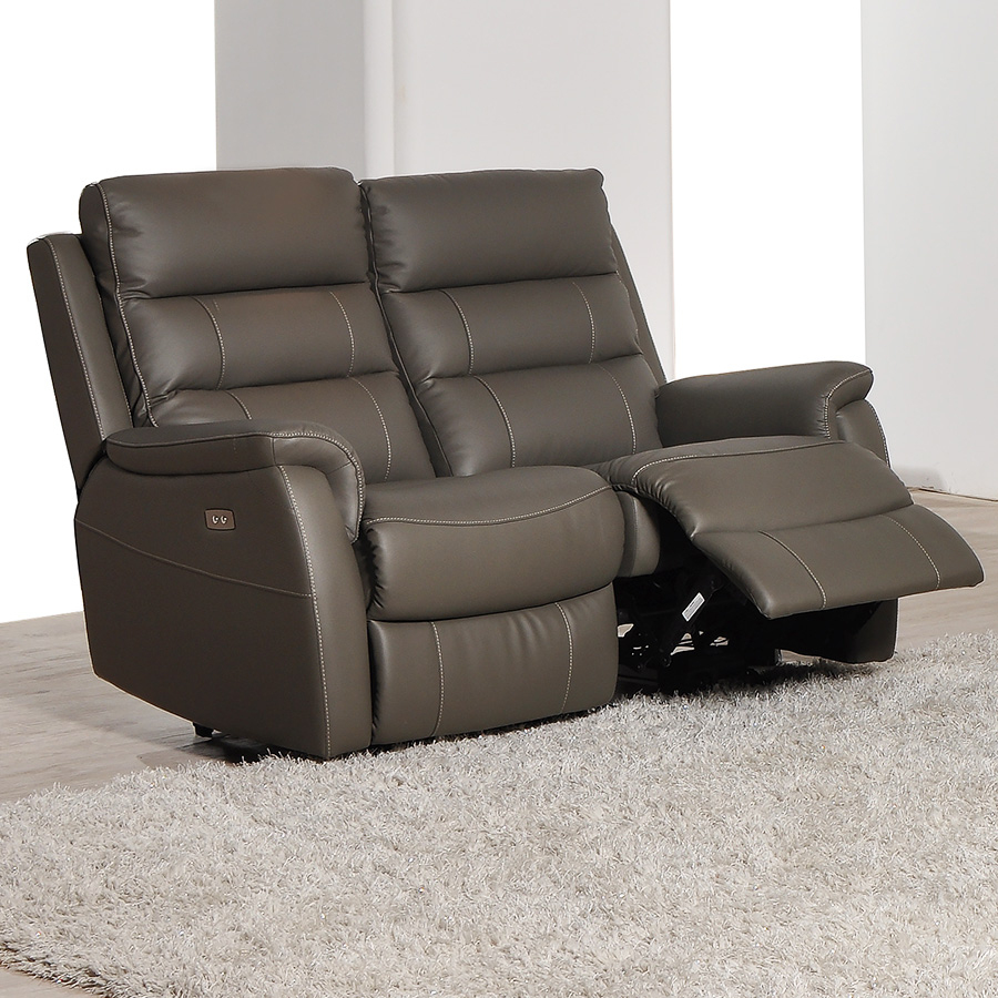 Canape Cuir Relax Électrique 2 Places | Sofamobili à Fauteuil Relax 2 Places