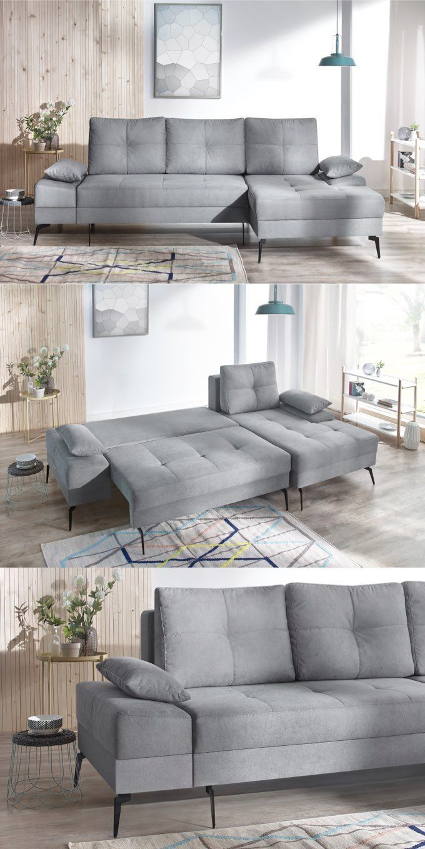 Canapé D'angle Convertible Avec Coffre Sven Iii | Bobochic ... à Canape Deux Angles