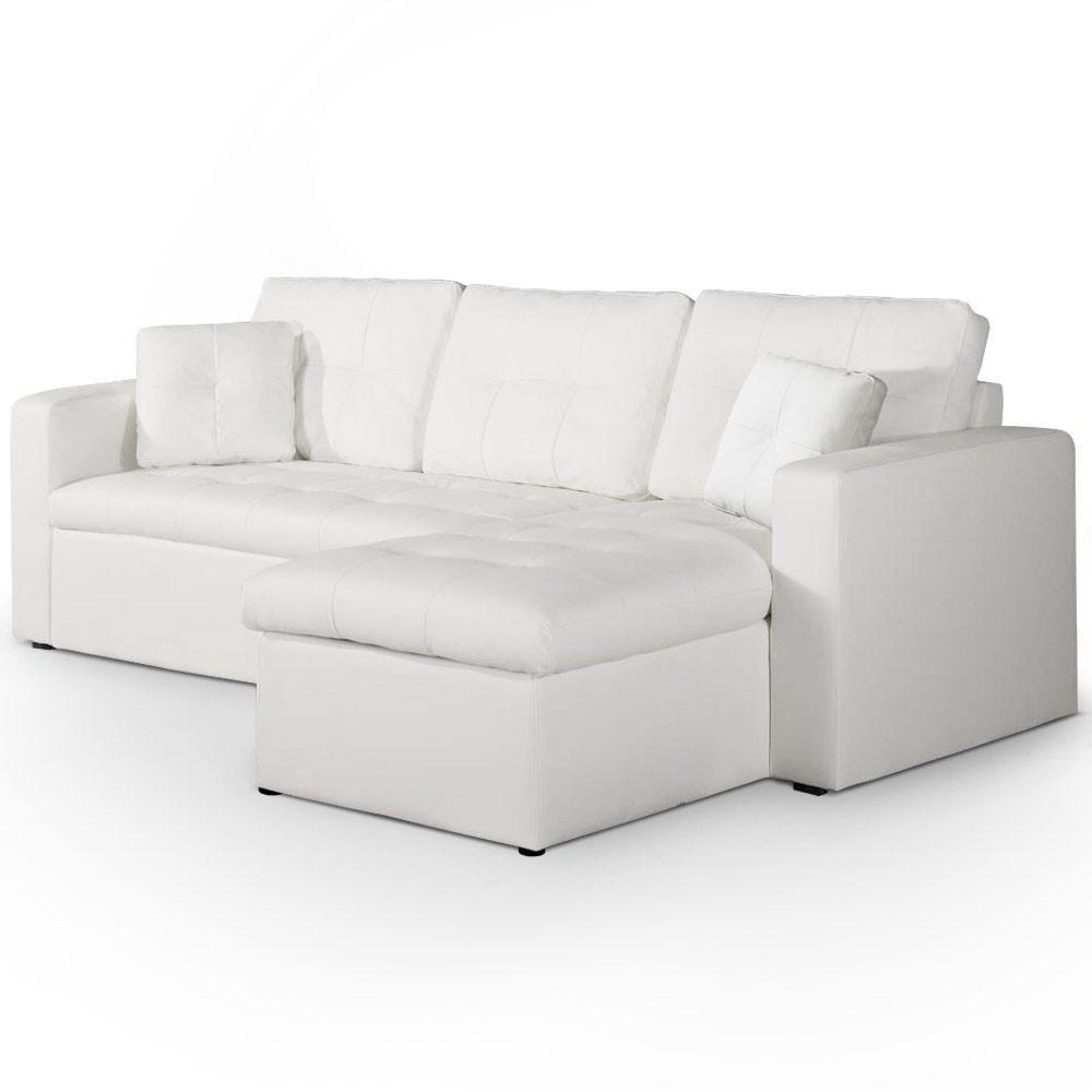 Canapé D'angle Convertible Blanc : Classe Et Élégant avec Canape Convertible Cuir Blanc