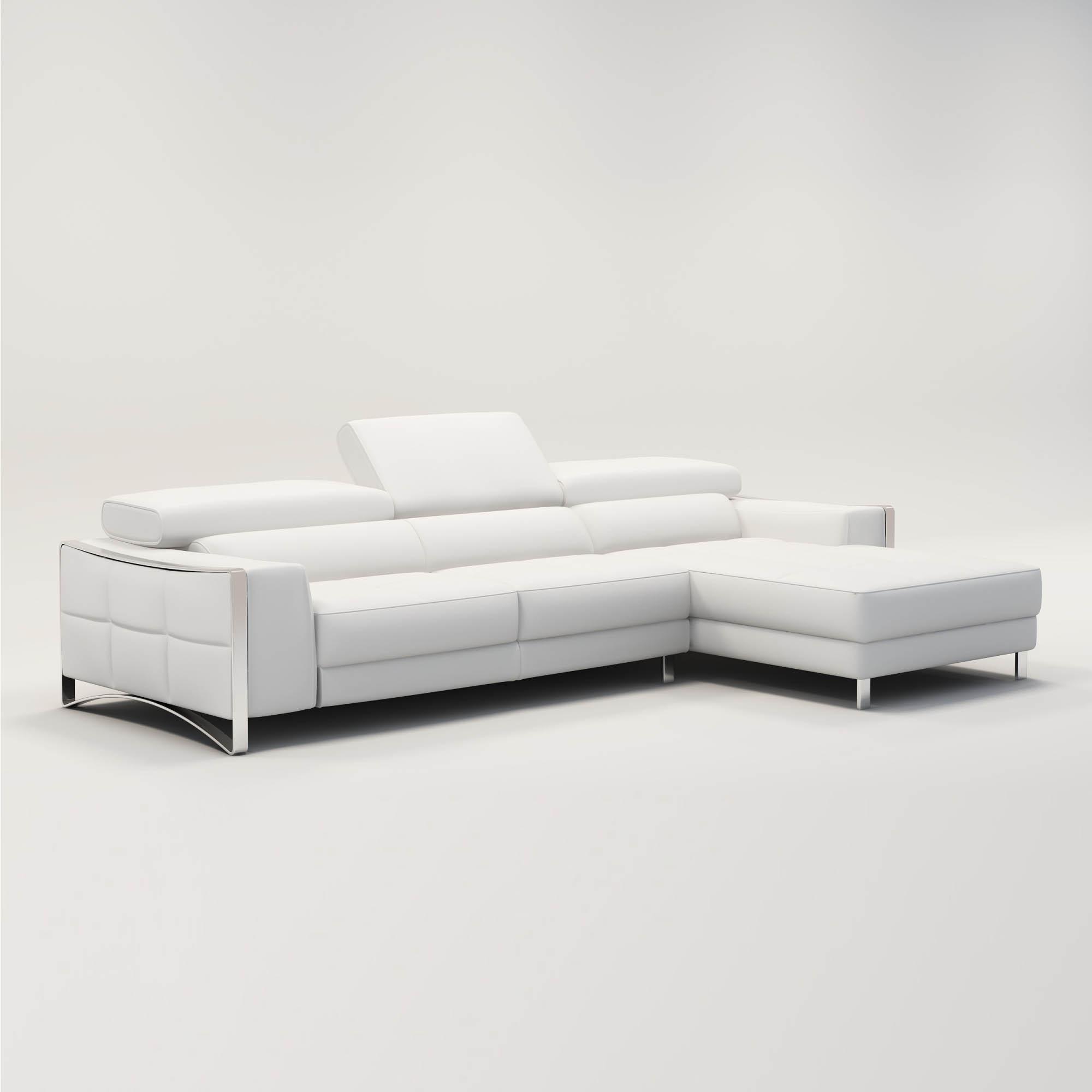 Canapé D'angle Design En Cuir Blanc Sheyla pour Canape Cuir Blanc