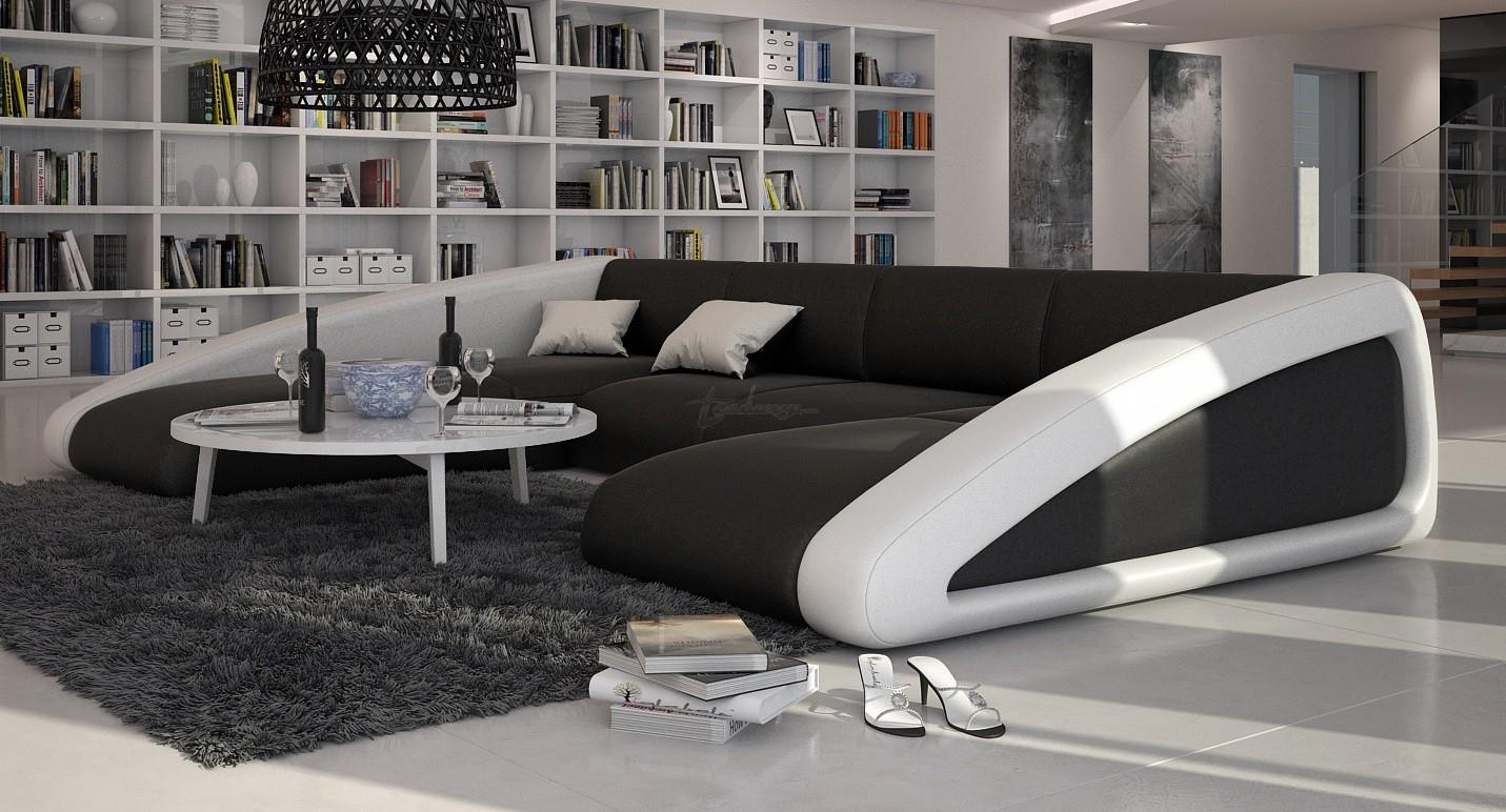 Canapé D'angle Moderne De Grande Taille : Boat U, 2 195,00 € tout Canape Cuir En U