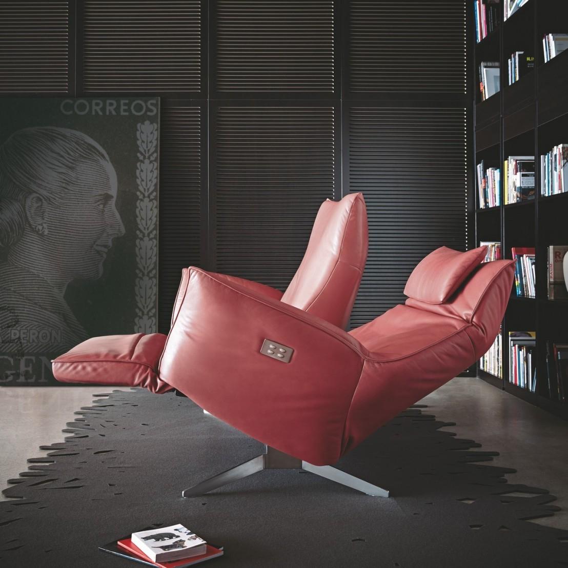 Canapé Design Relax Éléctrique Compact Cuir Ou Tissu 2 ... serapportantà Canape Relax Design