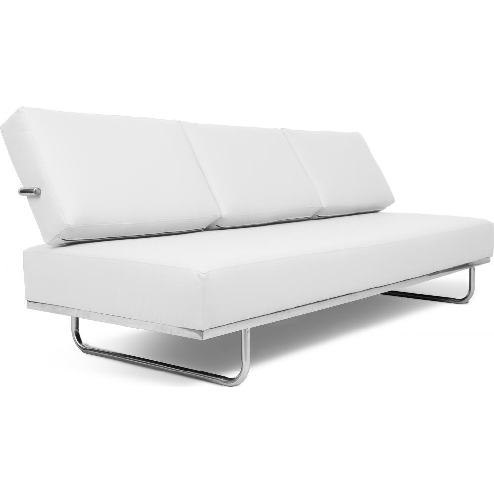 Canapé Lit 3 Places Cuir Blanc Carter intérieur Canape Convertible Cuir Blanc