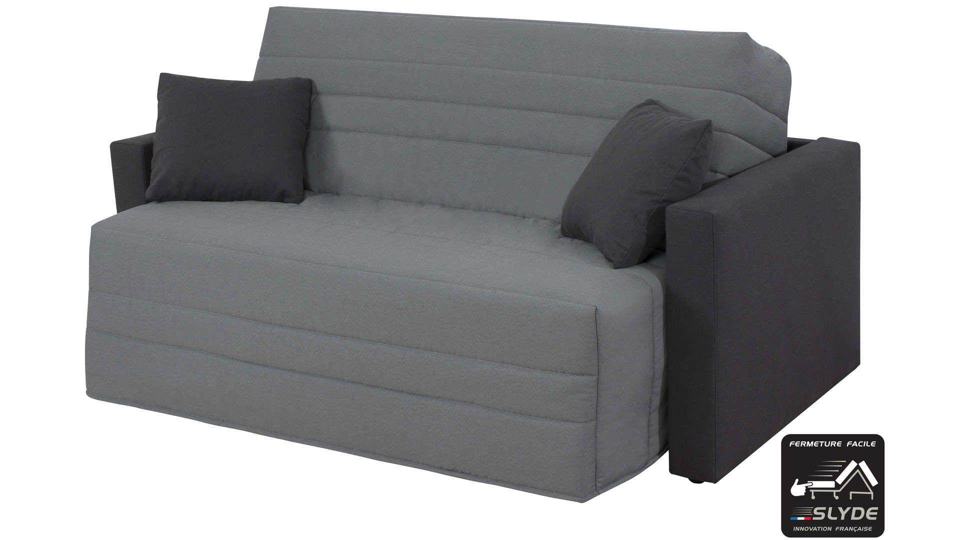 Canapé Lit Bz Slyde 140 Cm Studio Coloris Gris | Canapé Lit ... à Conforama Canape Lit