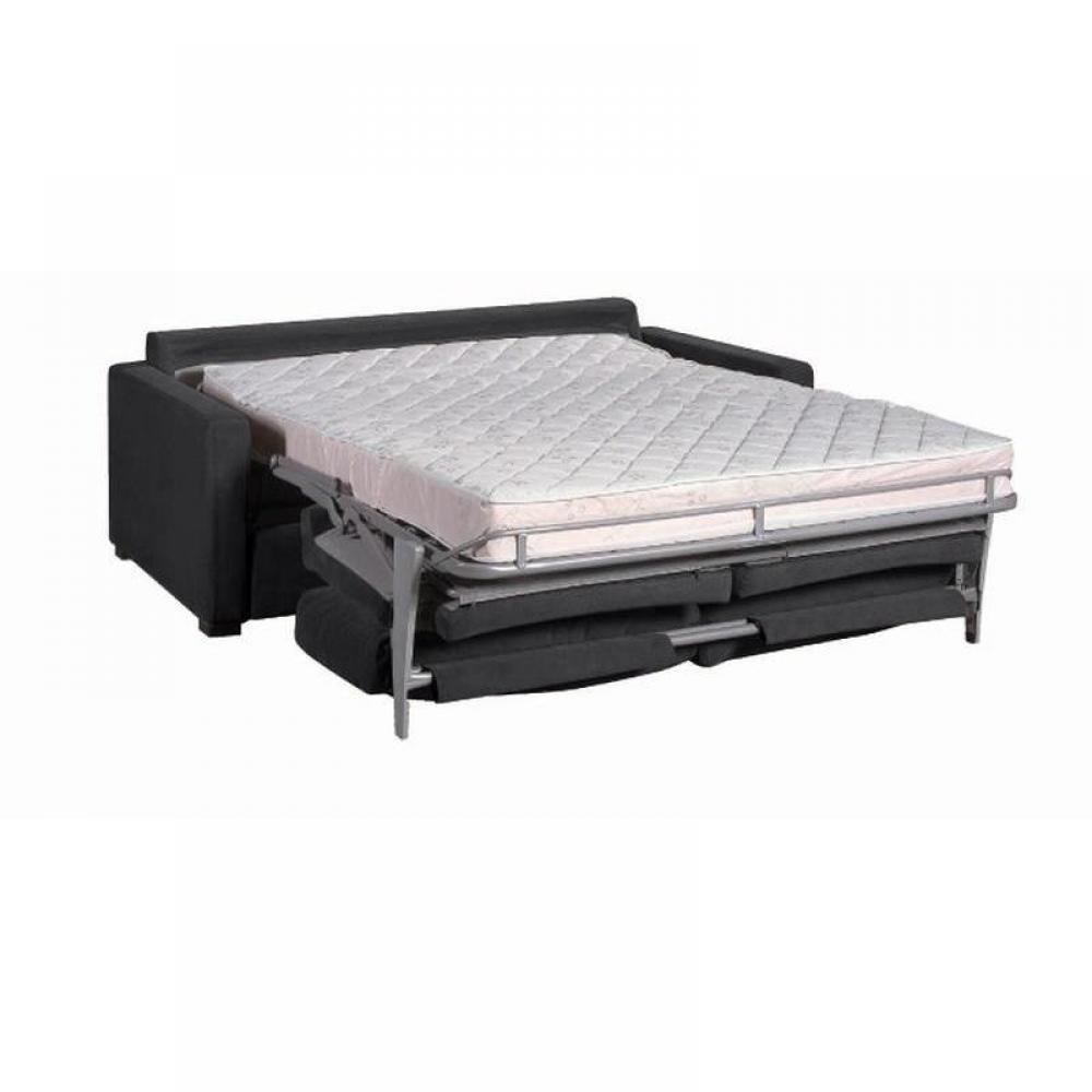 Canapé Lit Osman Convertible 140Cm Ouverture Rapido Matelas Confort Bultex  14 Cm à Canape Convertible Tres Confortable