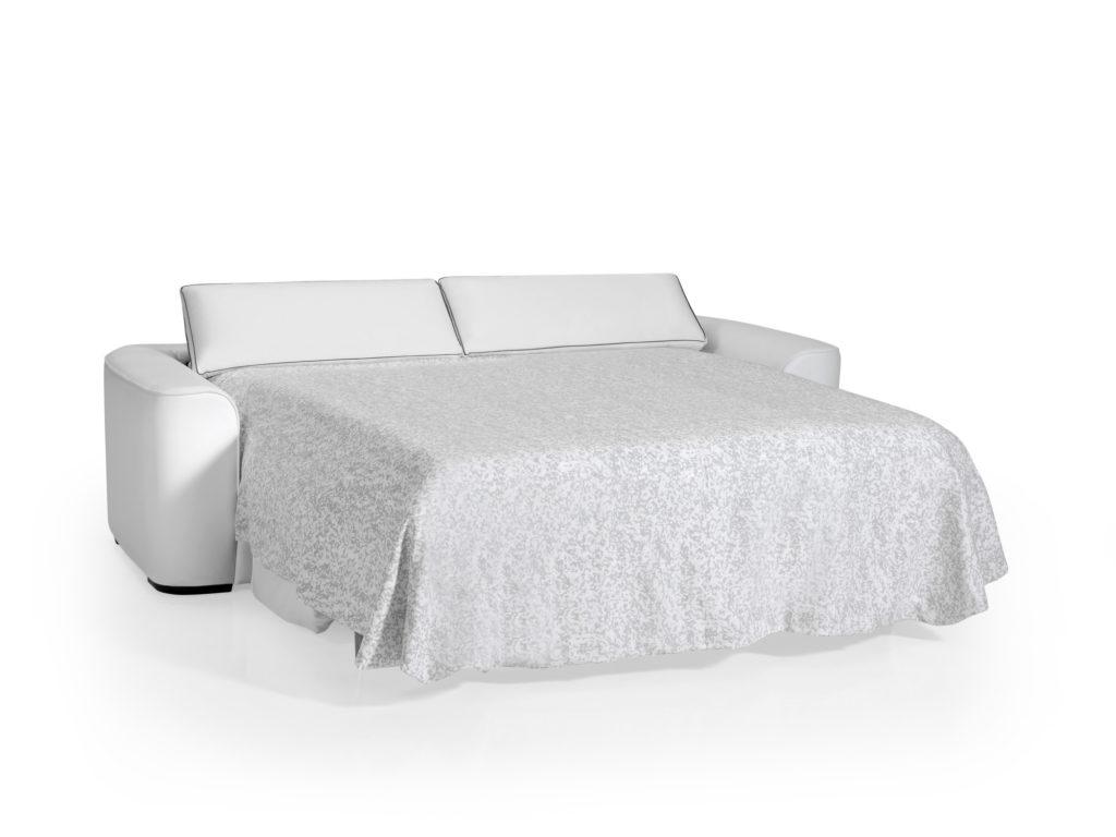 Canapé Lit Quotidien Blanc - Latablebasse concernant Canape Convertible Tres Confortable