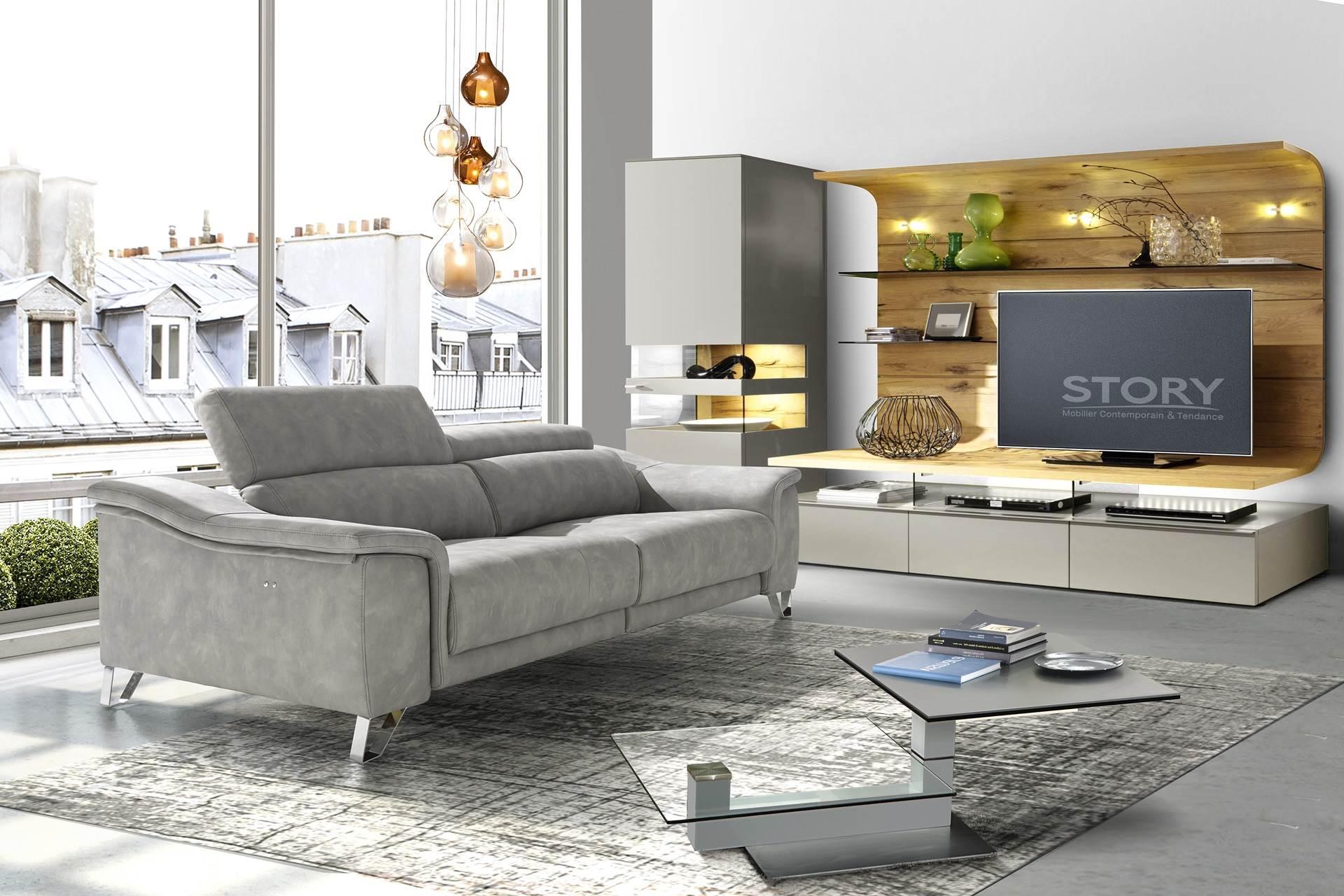 Canapé Relax Assise Coulissante À Mémoire à Canape Relax Design