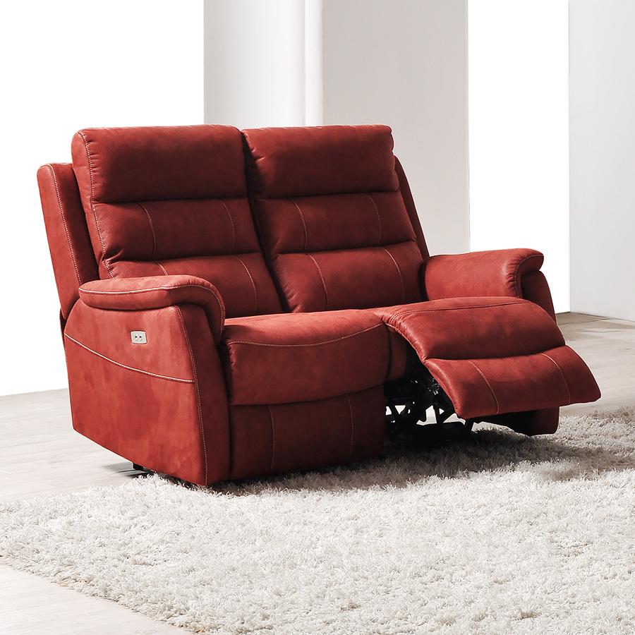 Canape Relax Électrique 2 Places En Tissu | Sofamobili à Canape Relax 2 Places