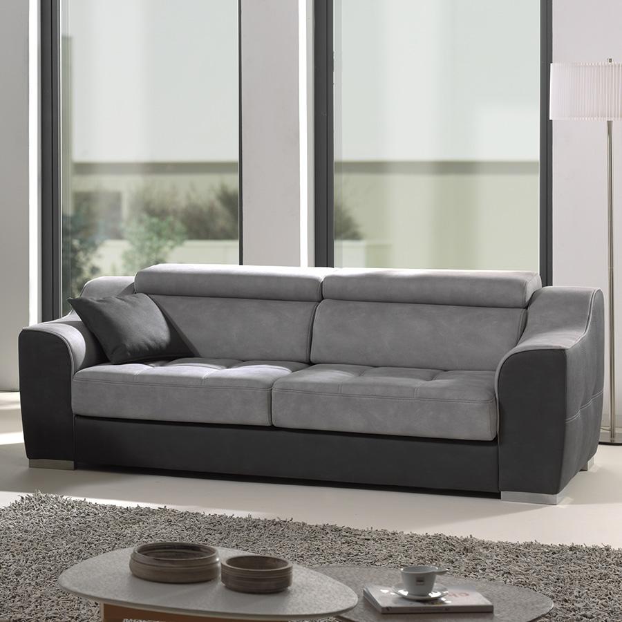 Canapé Tissu 3 Places, Canapé Relax Design, Canapé Electrique pour Canape Relax Design