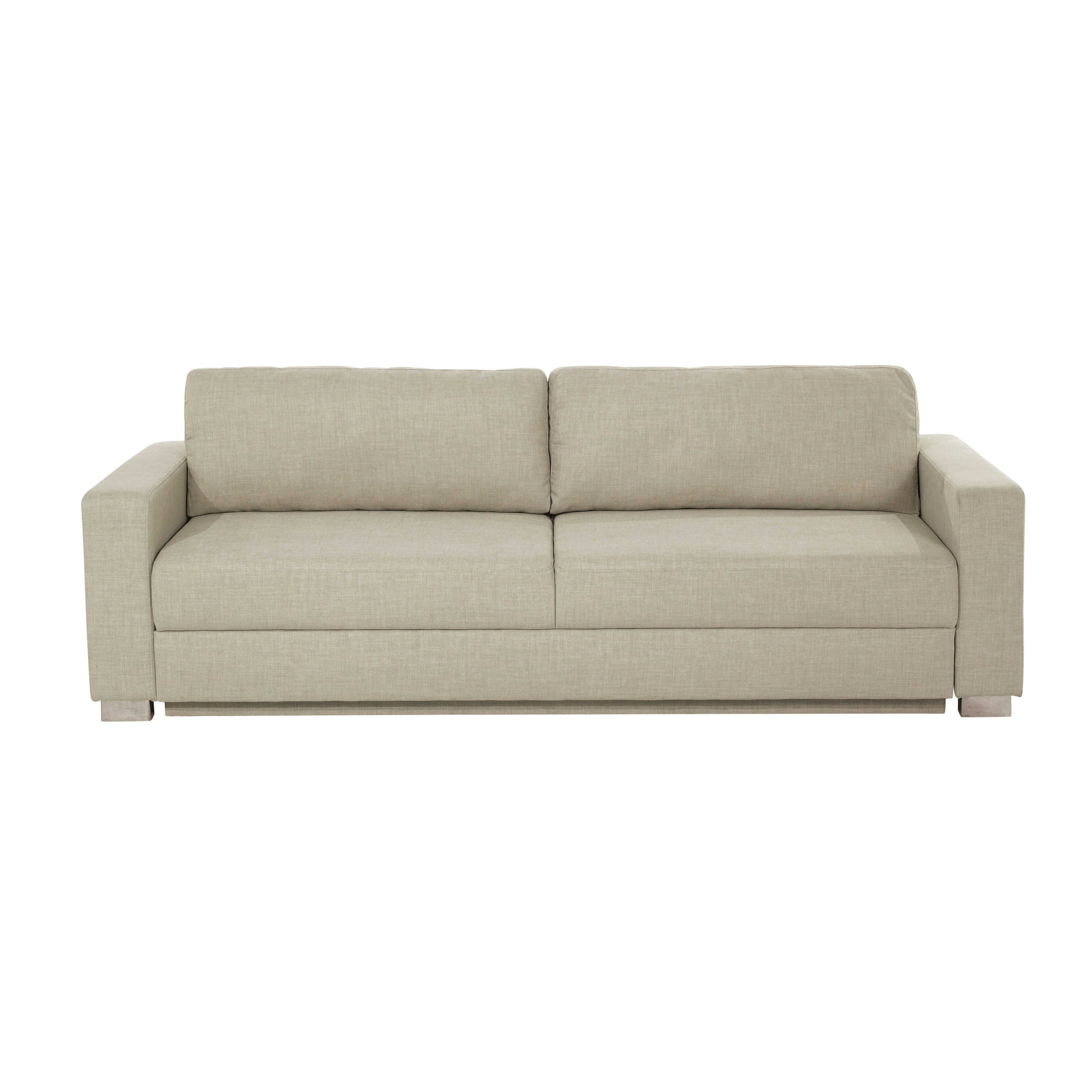 Canapés Droits   Sofa, Beige, Convertible intérieur Canape Beige Convertible