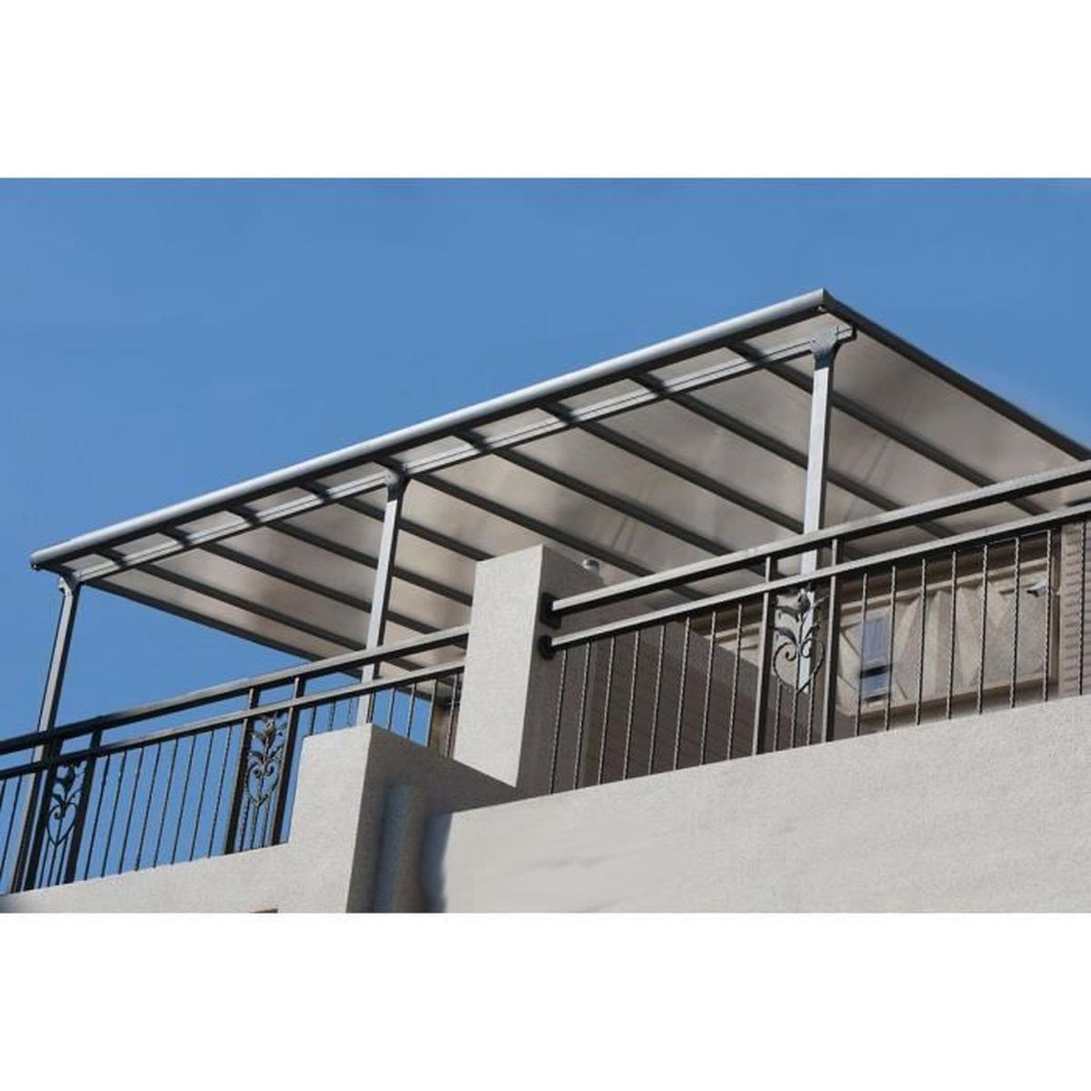 Carport Toit Terrasse Pergola 3X4 M En Aluminium - Achat ... encequiconcerne Toit Terrasse Aluminium