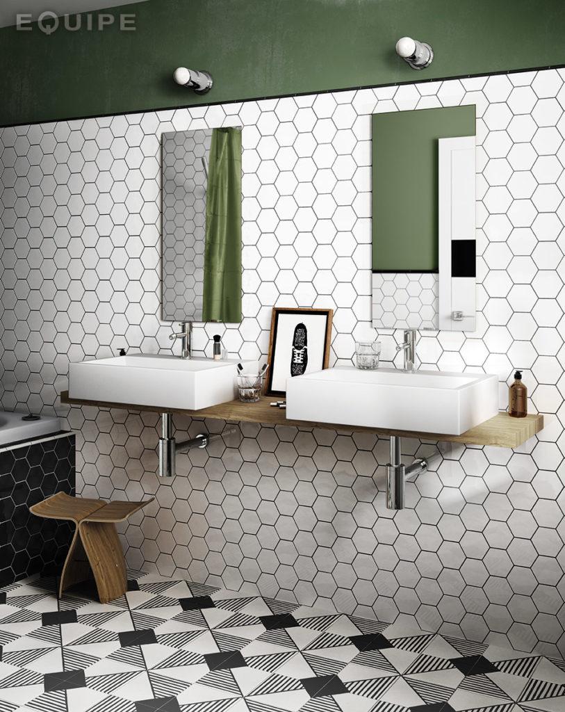 Carrelage Hexagonal 17.5X20 Tomette Design Hexatile Ivoire - Blanc Casse  Mat 20339 – 0.71M² pour Carrelage Sol Hexagonal
