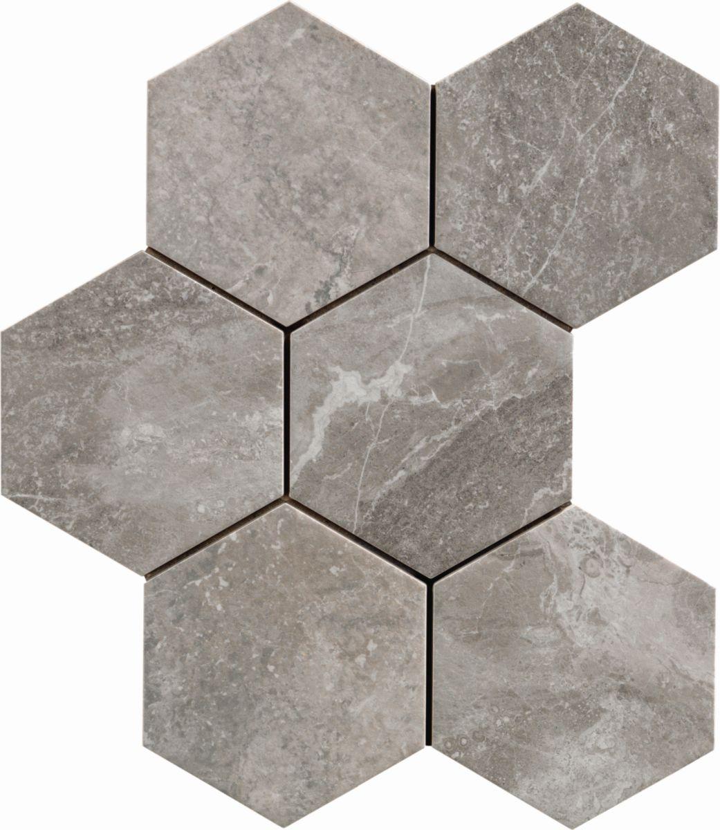 Carrelage Hexagonal Sol Intérieur Grès Cérame Bistrot - Crux Taupe -  21X18,2 Cm concernant Carrelage Sol Hexagonal