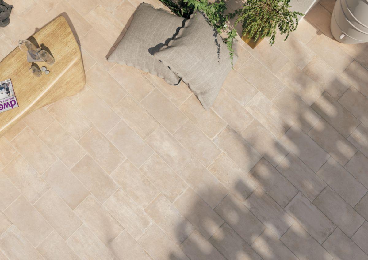 Carrelage Sol Extérieur Grès Cérame Geobrick - Volterra Antidérapant -  25X50 Cm - Ép. 10 Mm destiné Gres Cerame Exterieur
