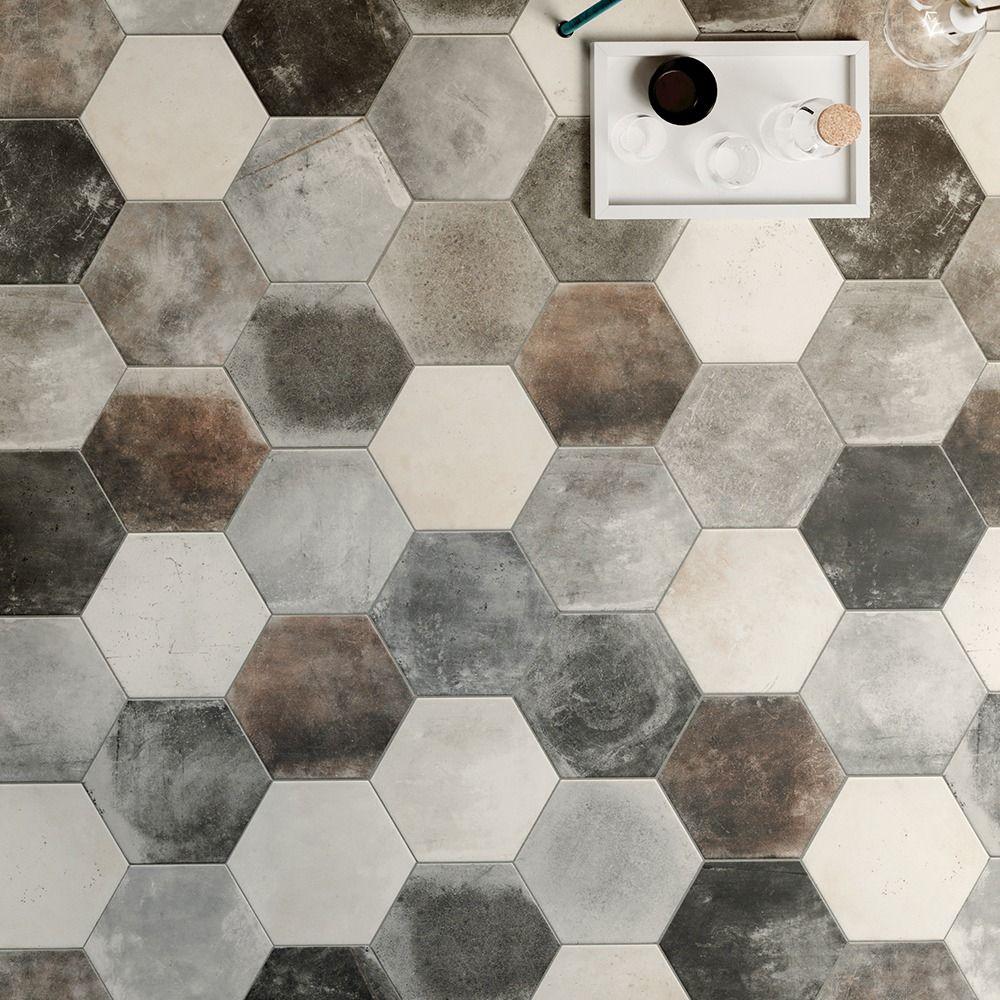Carrelage Sol Hexagonal Effet Carreaux De Ciment 24X27,7 ... dedans Carrelage Sol Hexagonal