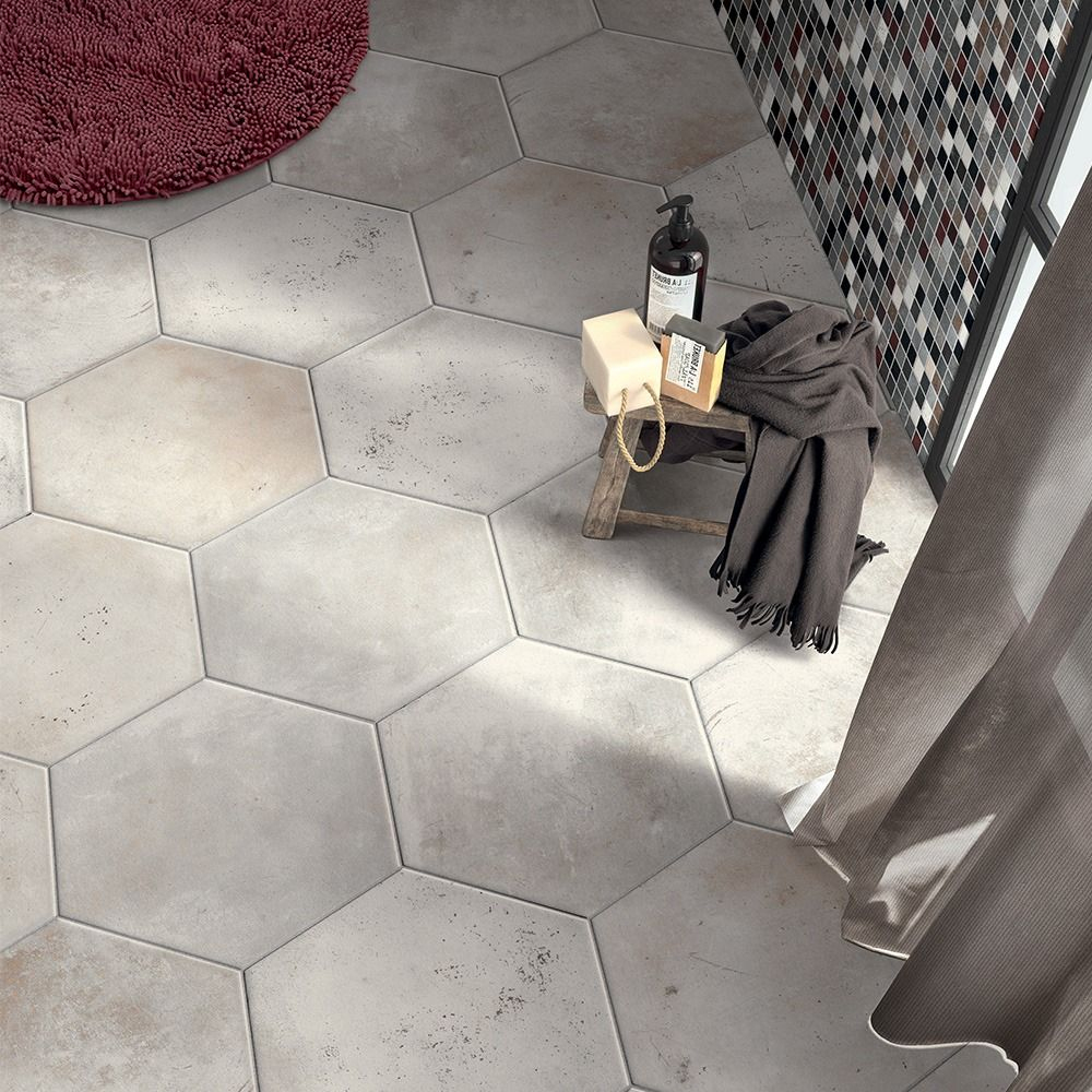 Carrelage Sol Hexagonal Effet Carreaux De Ciment 24X27,7 ... destiné Carrelage Sol Hexagonal