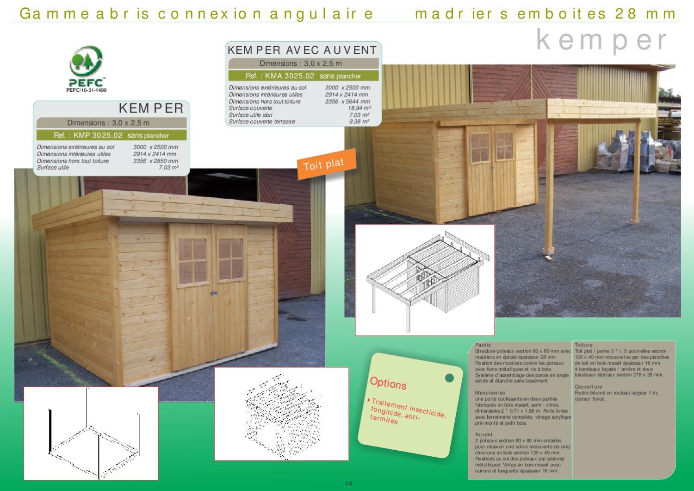 Catalogue Abri 2012 By Durand Sebastien - Issuu tout Auvent Bois Terrasse