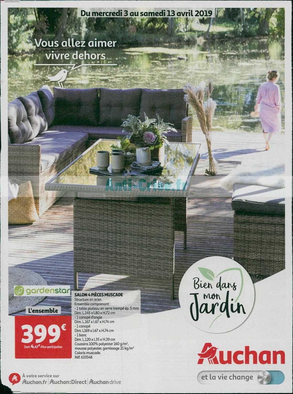 Catalogue Auchan Du 03 Au 13 Avril 2019 (Jardin ... destiné Table De Jardin Auchan