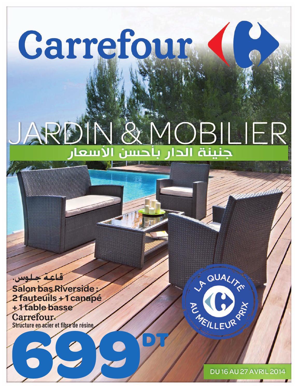"""Catalogue Carrefour """"jardin Et Mobilier"""" By Carrefour ... intérieur Transat Jardin Carrefour"""