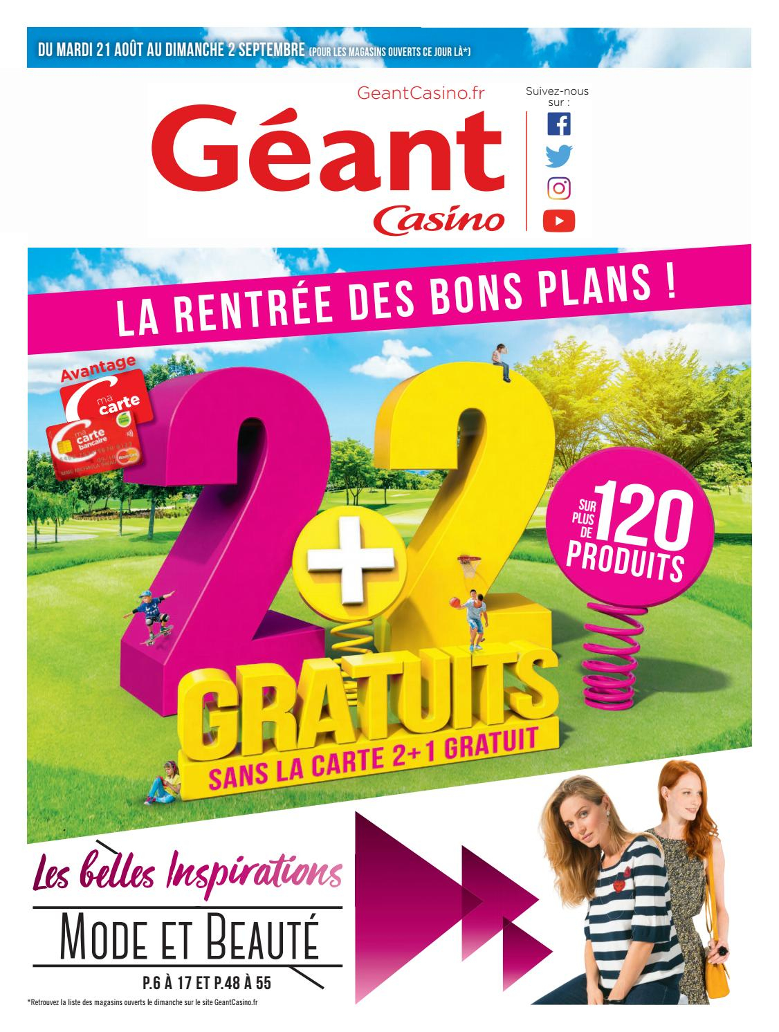 Catalogue Géant Casino Du 21 Août Au 2 Septembre 2018 ... tout Piscine Geant Casino