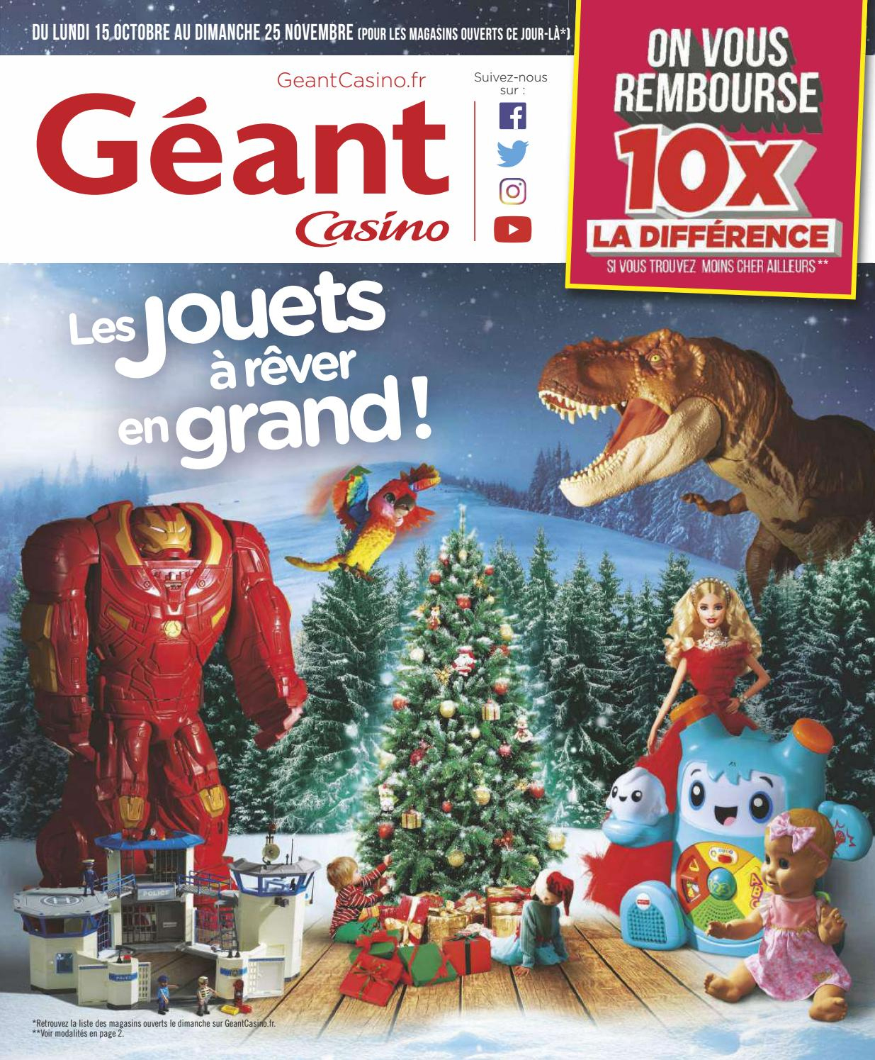 Catalogue Jouets Noël 2018 - Géant Casino By Yvernault - Issuu serapportantà Piscine Geant Casino