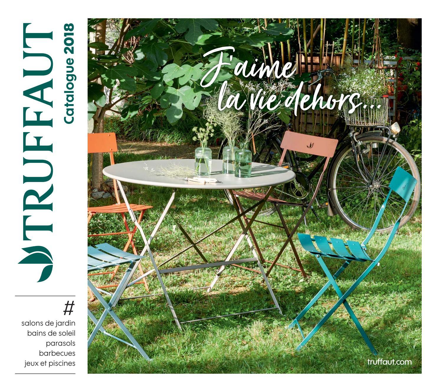Catalogue Mobilier De Jardin Et Barbecue : Été 2018 ... avec Salon De Jardin Truffaut