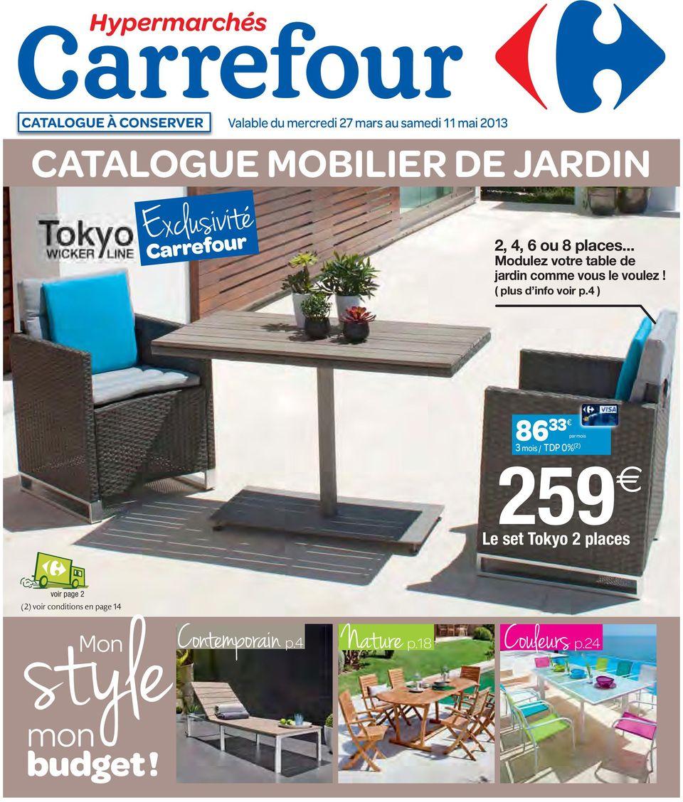 Catalogue Mobilier De Jardin - Pdf Téléchargement Gratuit concernant Transat Jardin Carrefour