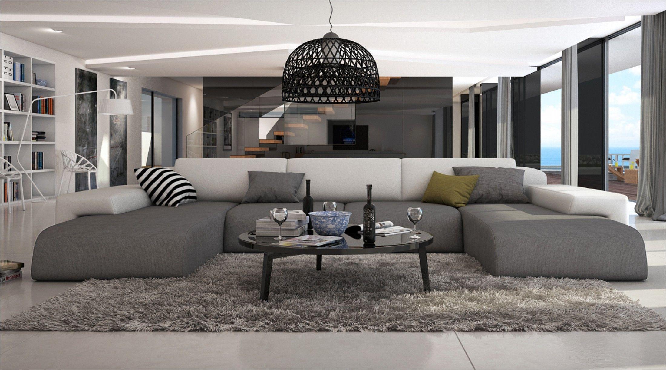 Ce Grand Canapé D'angle En U Conférera À Votre Salon Moderne ... dedans Canape Cuir En U