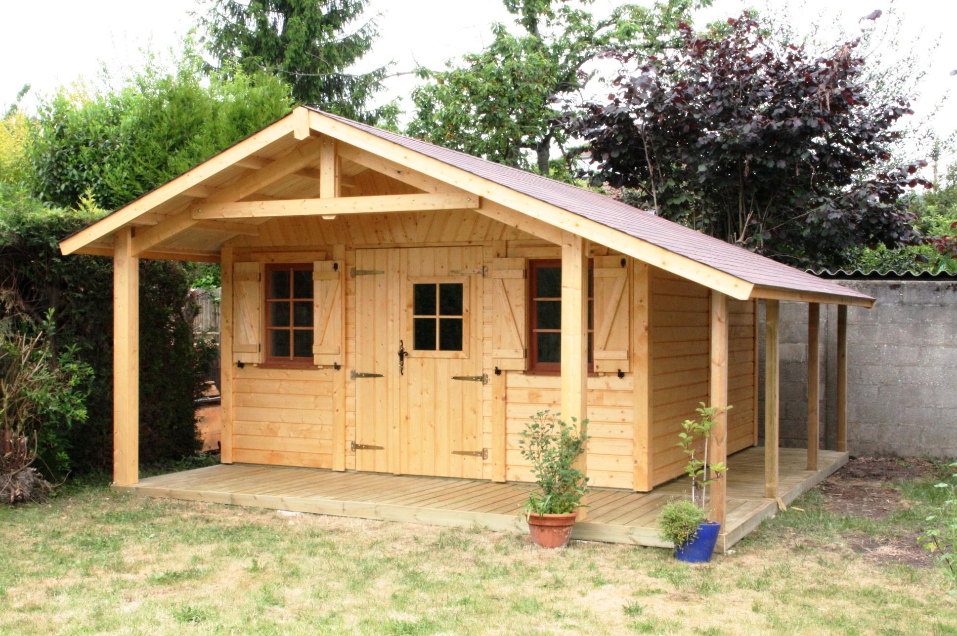 Chalet En Bois Pas Cher Destockage – Gamboahinestrosa dedans Abri De Jardin 20M2