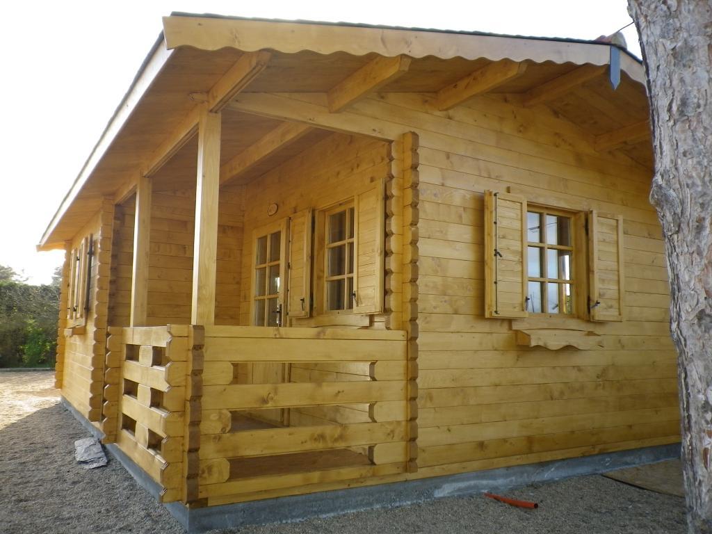 Chalet Habitable De Loisirs 40M2 En Bois En Kit encequiconcerne Cabanon En Bois Pas Cher