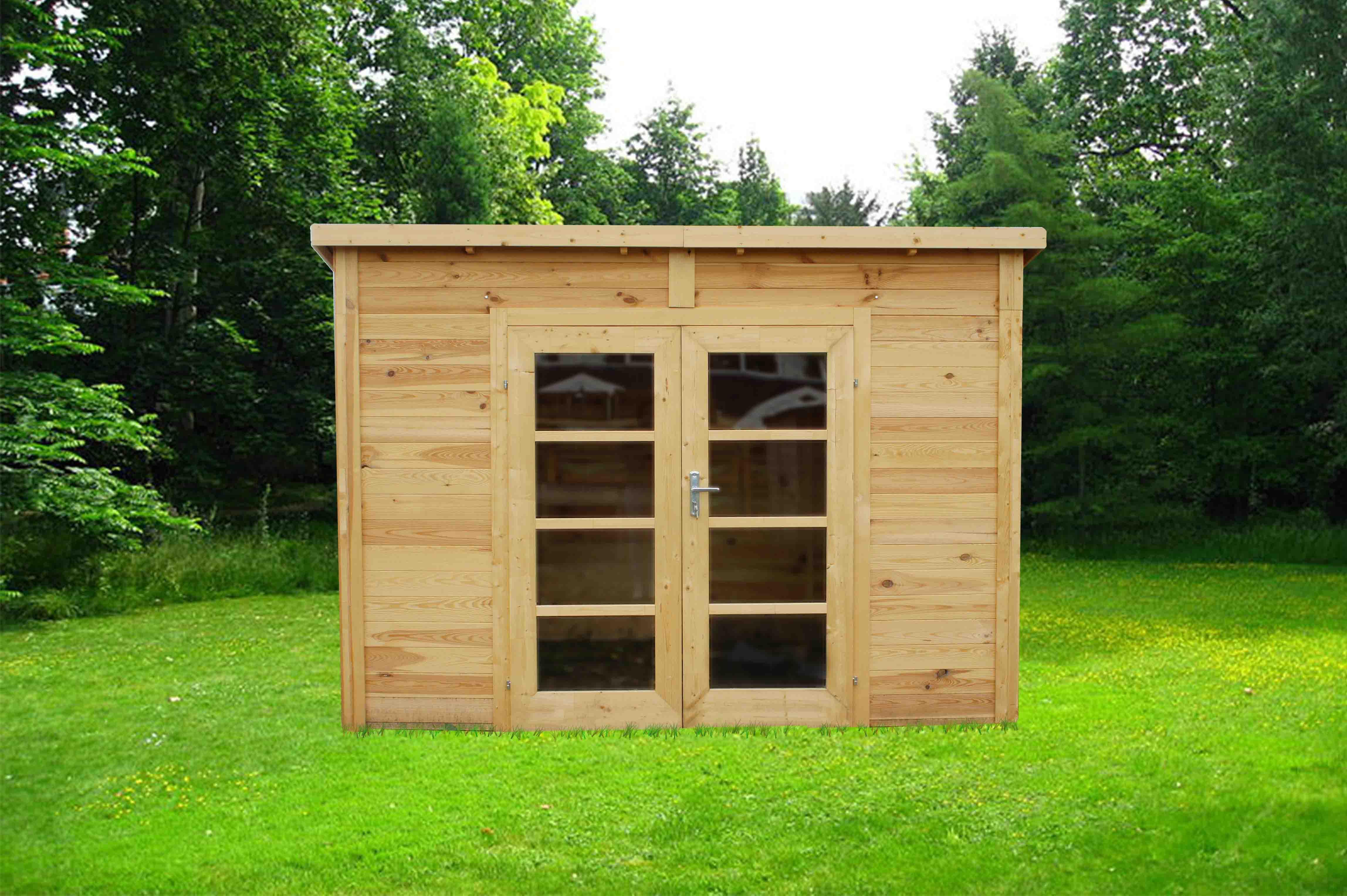 Chalet & Jardin Boutique : Abri En Bois Toit Plat Capanna® 6 M² à Abri De Jardin Bois Toit Plat