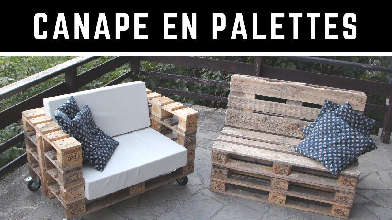 Comment Fabriquer Un Canapé En Palette Avec Un Dossier Incliné ? Version  Complète ! dedans Meubles De Jardin En Palettes