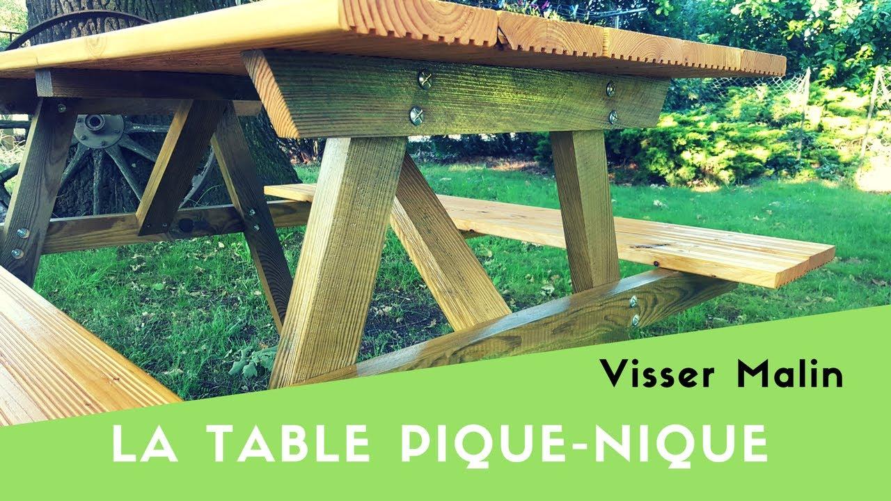 Comment Fabriquer Une Table Pique Nique - Ep38 destiné Table Jardin Bois