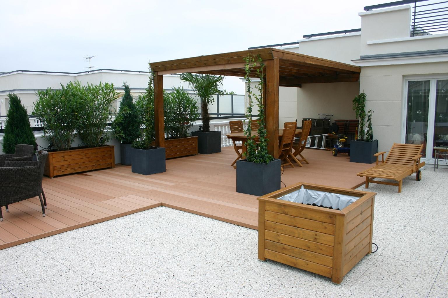 Comment Modérer Sa Terrasse À Moindre Coût? dedans Amenager Une Grande Terrasse