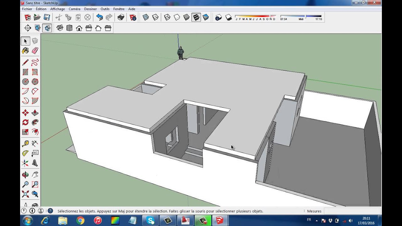 Comment Realiser La Dalle Et L'acrotere Sur Sketchup - à Acrotere Toiture Terrasse