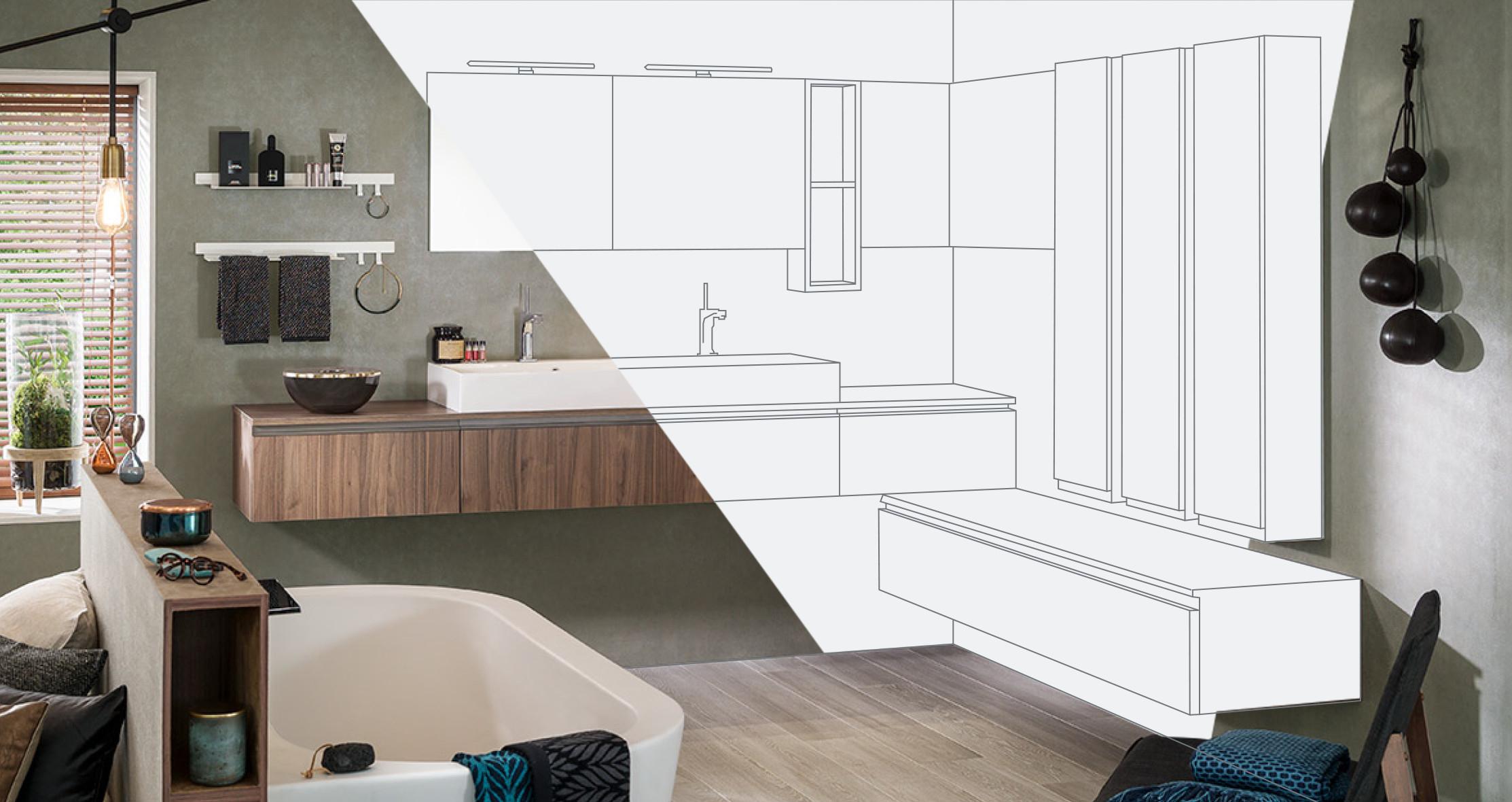 Configurateur 3D : Concevoir Sa Salle De Bain En Ligne ... tout Modele Carrelage Salle De Bain