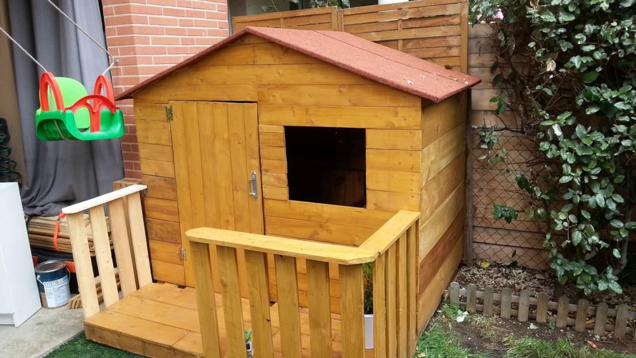 Construction Cabane En Bois De Palette (Wooden Housse) avec Cabanon En Bois Pas Cher