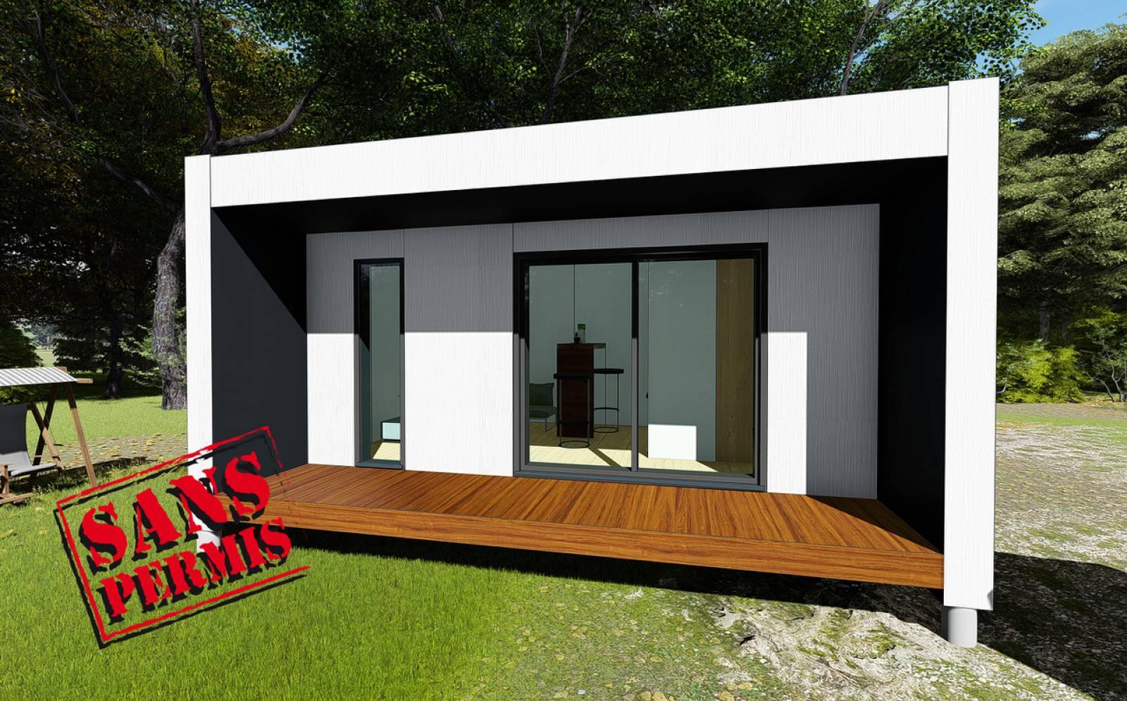 Construction De Studios En Bois Sans Permis De Construire À ... avec Abri De Jardin 30M2