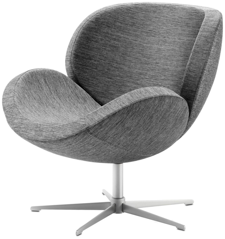 Contemporary Armchair / Fabric / Leather / Steel destiné Bo Concept Fauteuil