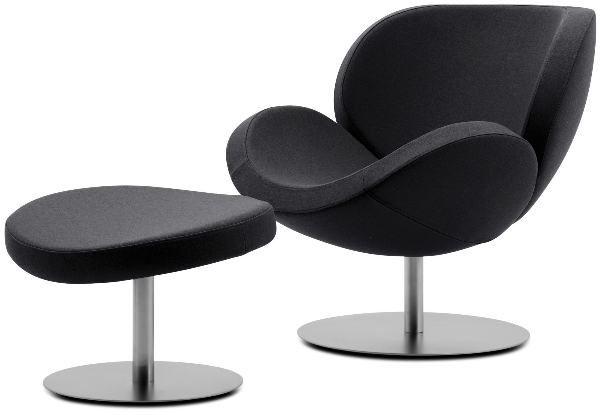 Contemporary Armchair / Fabric / Leather / Steel encequiconcerne Bo Concept Fauteuil