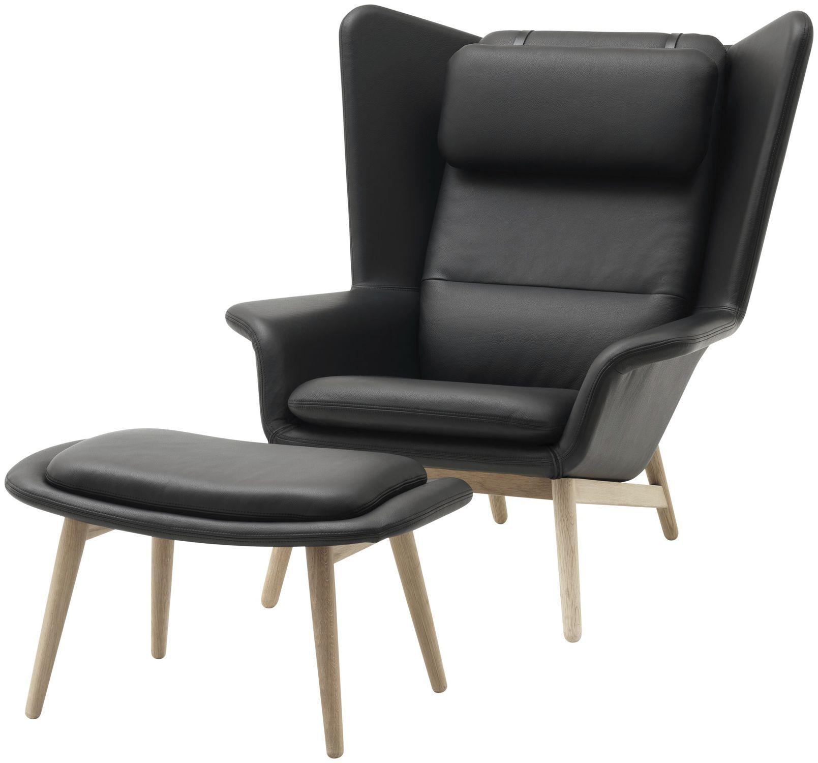 Contemporary Armchair / Wooden / Fabric / Leather intérieur Bo Concept Fauteuil