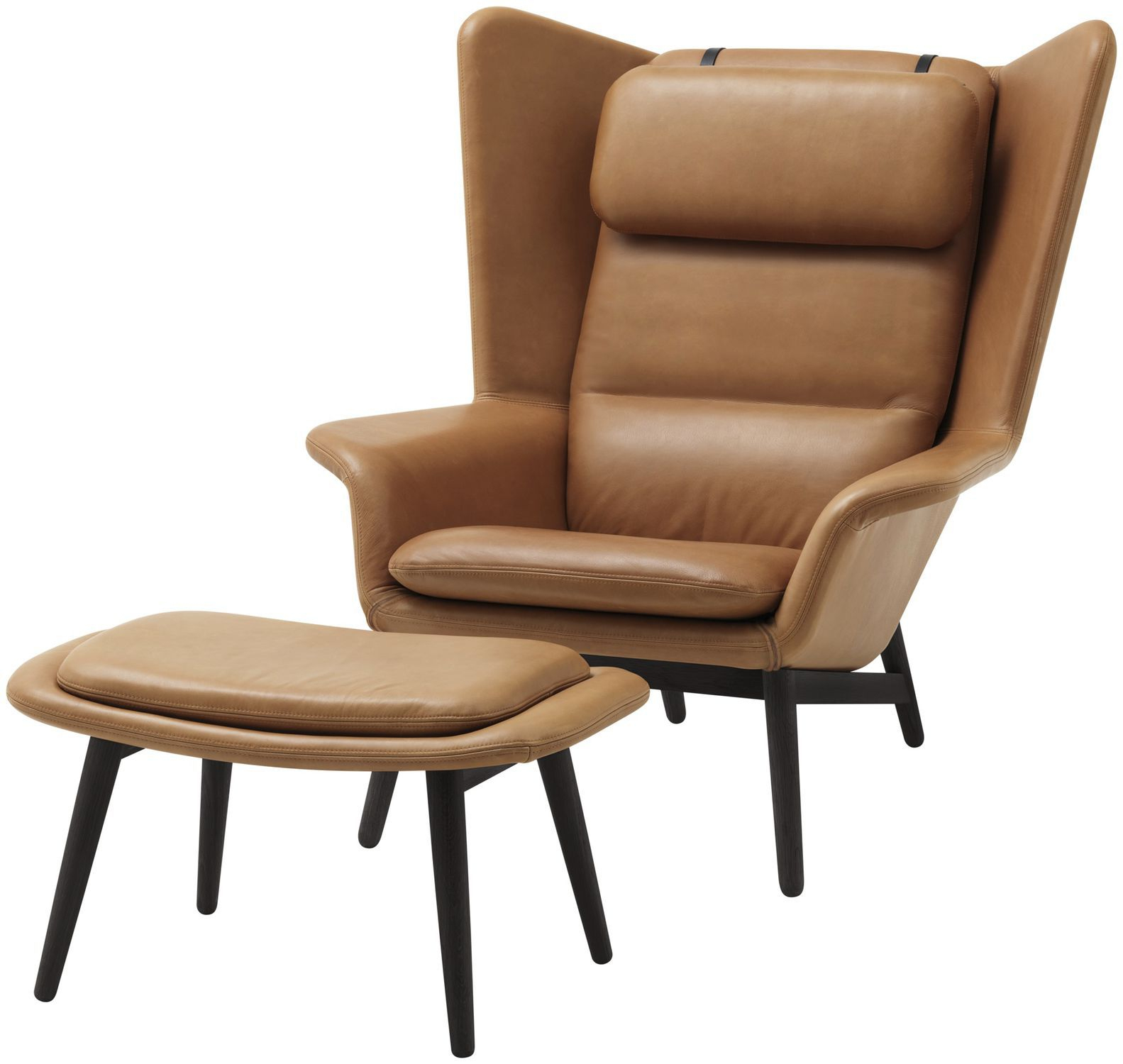 Contemporary Armchair / Wooden / Fabric / Leather tout Bo Concept Fauteuil