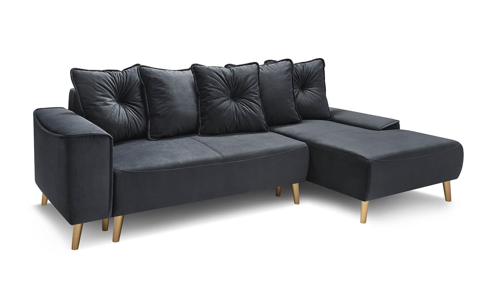 Corner Convertible Sofa Feet Gold Hera | Bobochic ® à Canape Convertible Original