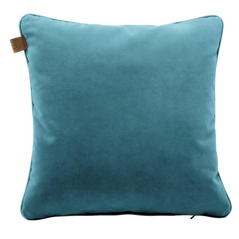Coussin Carré Velours Turquoise dedans Coussin Bleu Turquoise