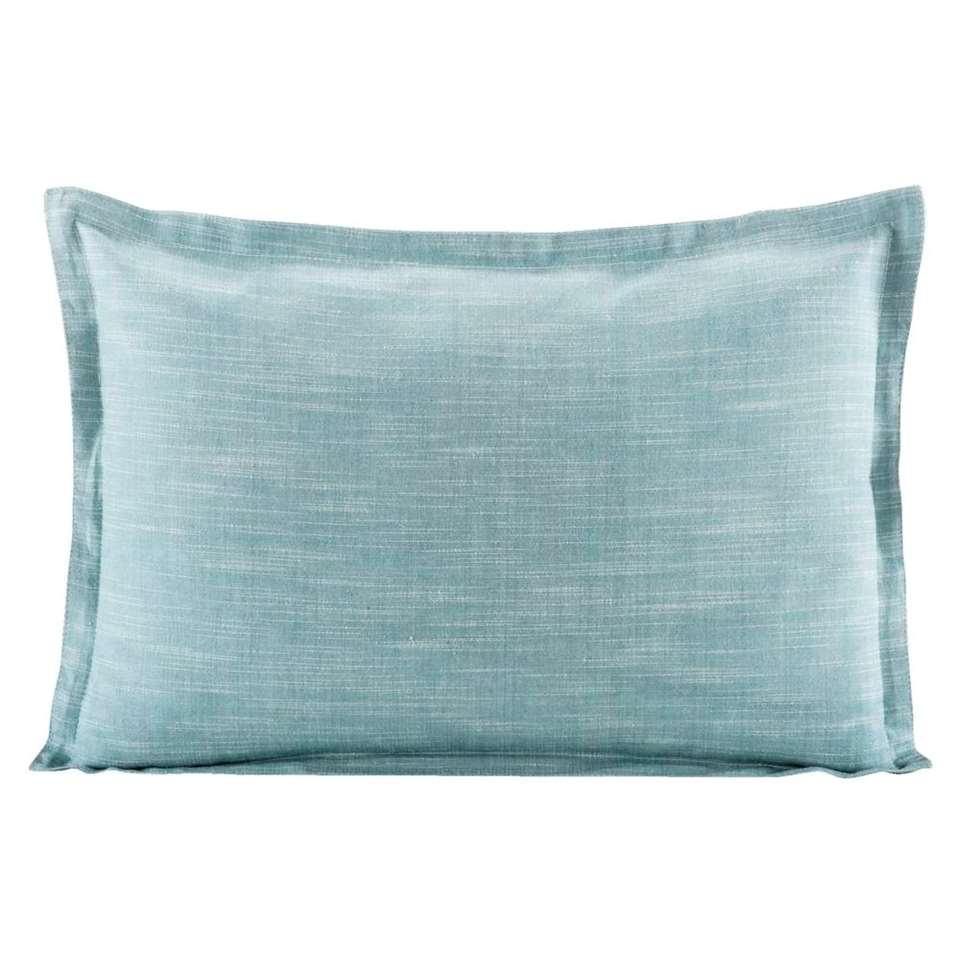 Coussin Décoratif Kyra - Bleu Gris - 35X50 Cm dedans Coussin Bleu Turquoise
