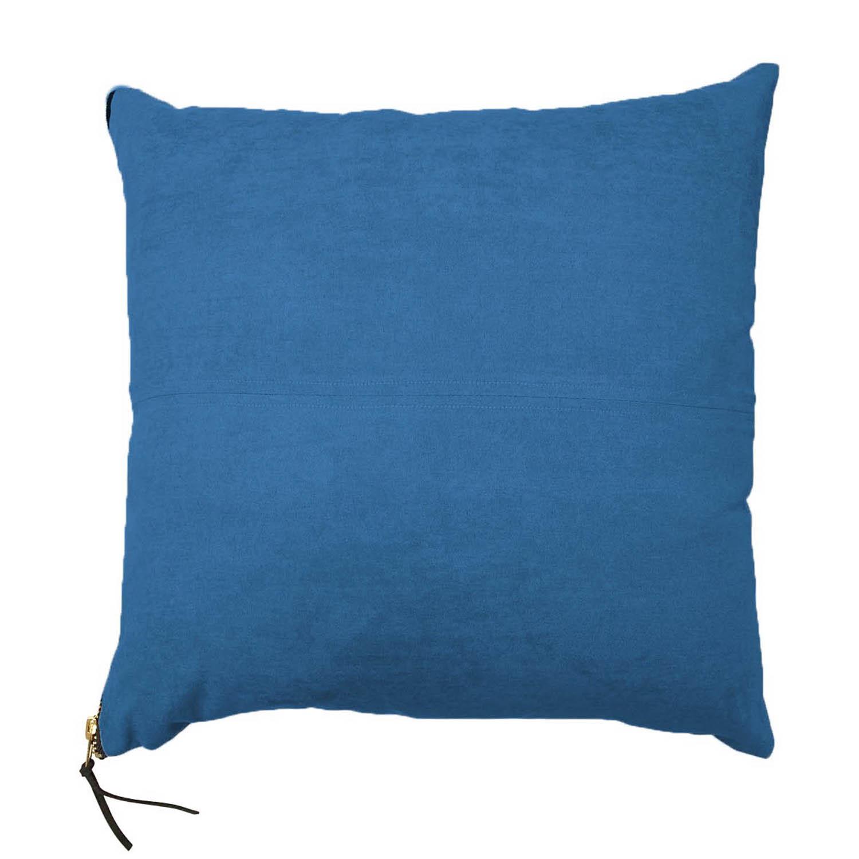 Coussin Faux Suède - Bleu intérieur Coussin Bleu Turquoise