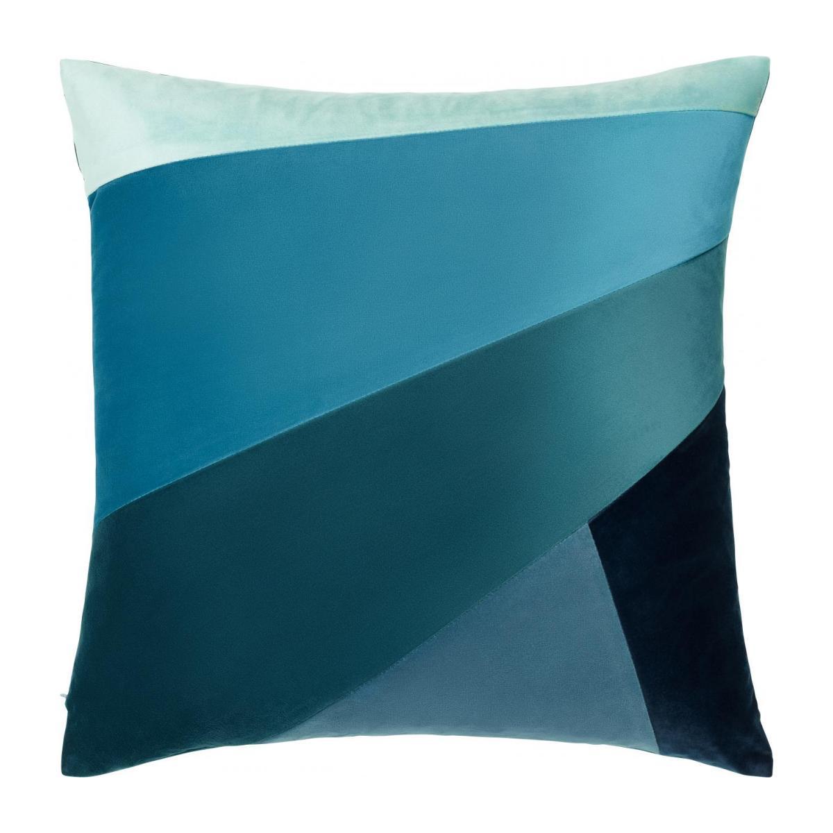 Coussin - Patchwork - Bleu - Design By Floriane Jacques à Coussin Bleu Turquoise