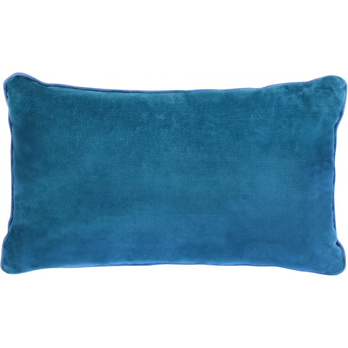 Coussin Rectangulaire En Velours Bleu Canard Candy Plus De Détails encequiconcerne Coussin Bleu Turquoise
