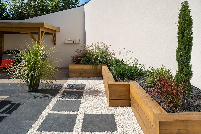 Création De Jardin Saint-Herblain : Déco Jardin,conception ... serapportantà Amenagement De Terrasse