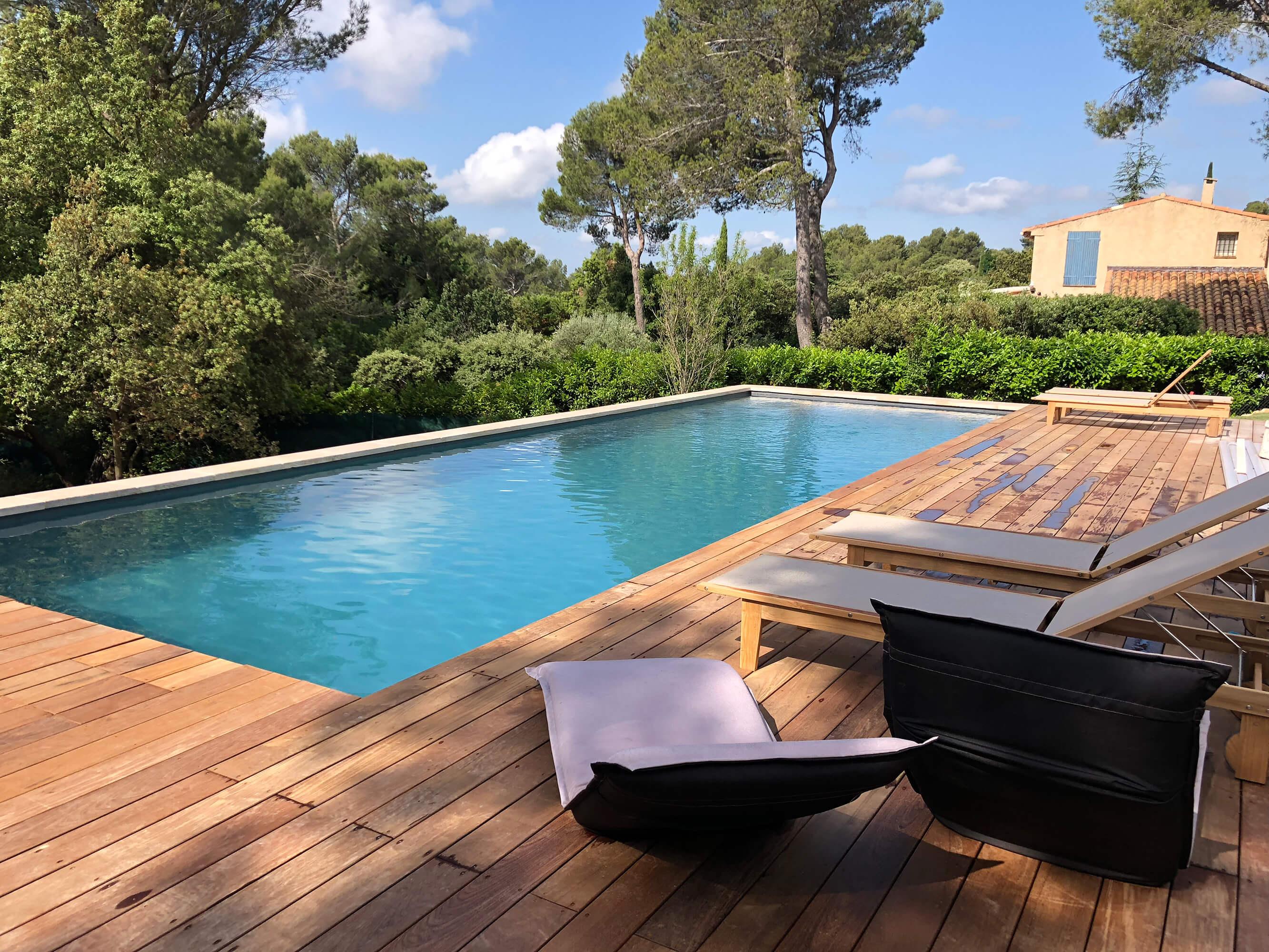 Création De Piscine Et Terrasse - Espaces Modernes intérieur Amenagement Exterieur Piscine